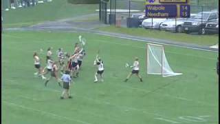 Needham vs Walpole Girls Lacrosse