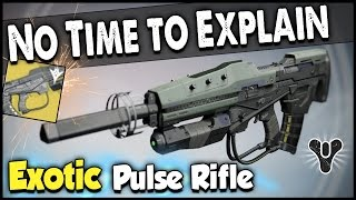 "Destiny: How to Get ""No Time to Explain"" Exotic Pulse Rifle! (Complete Quest Guide)"