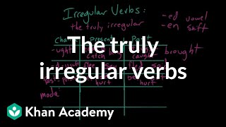 The truly irregular verbs | The parts of speech | Grammar | Khan Academy
