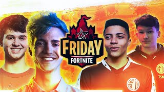 MYTH VS NINJA & BUGHA (Friday Fortnite w/ TSM ZexRow)