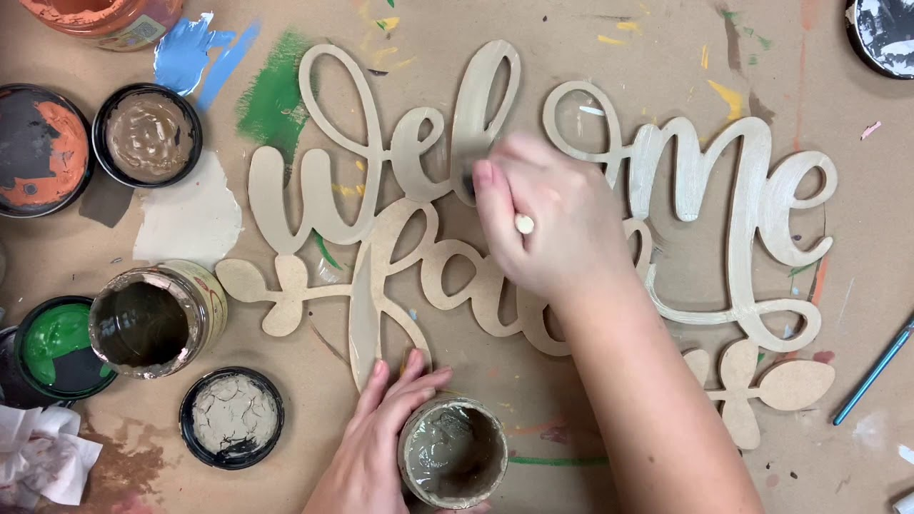 Welcome Fall Wooden Word Step by Step Video Tutorial