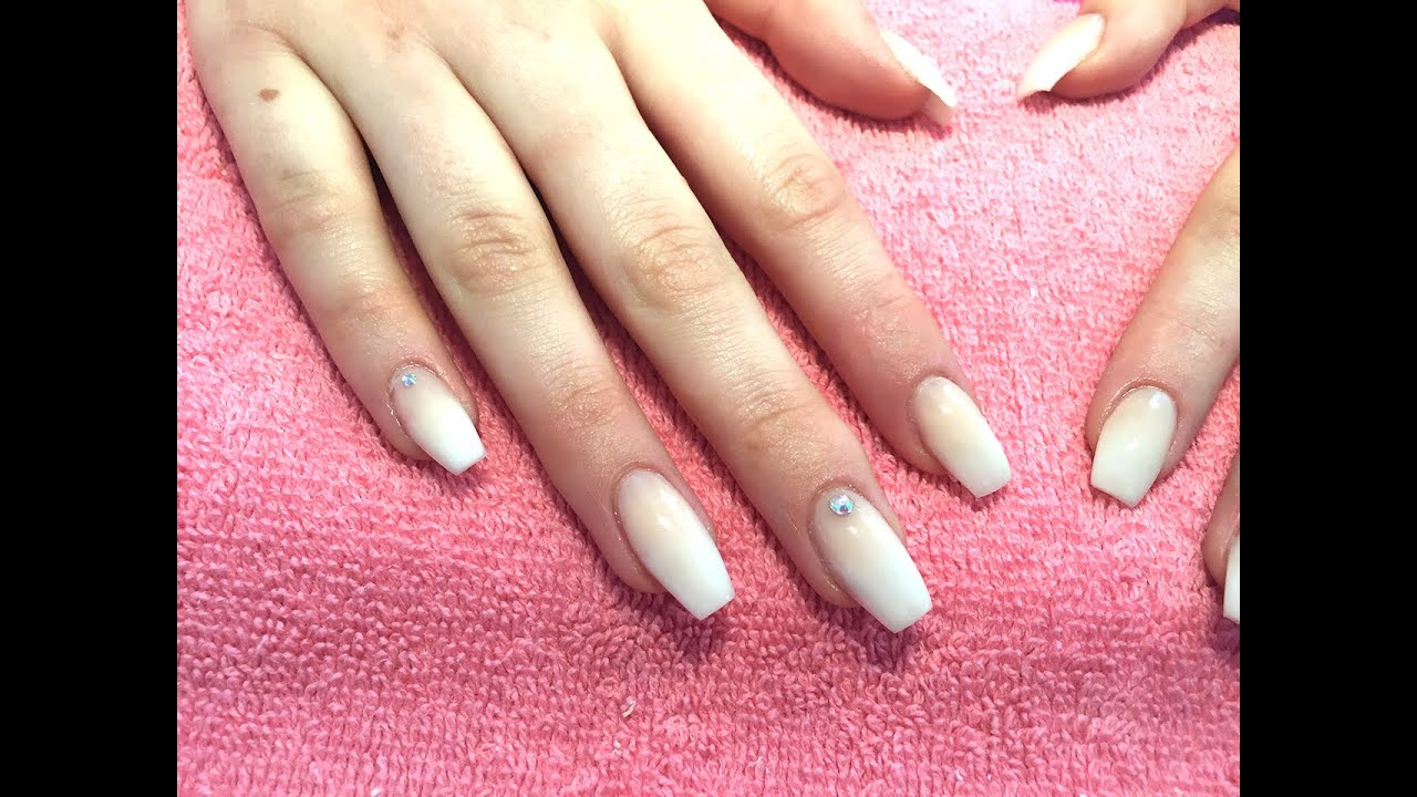 French Fade/Baby Boomer | Acrylic Nails - YouTube