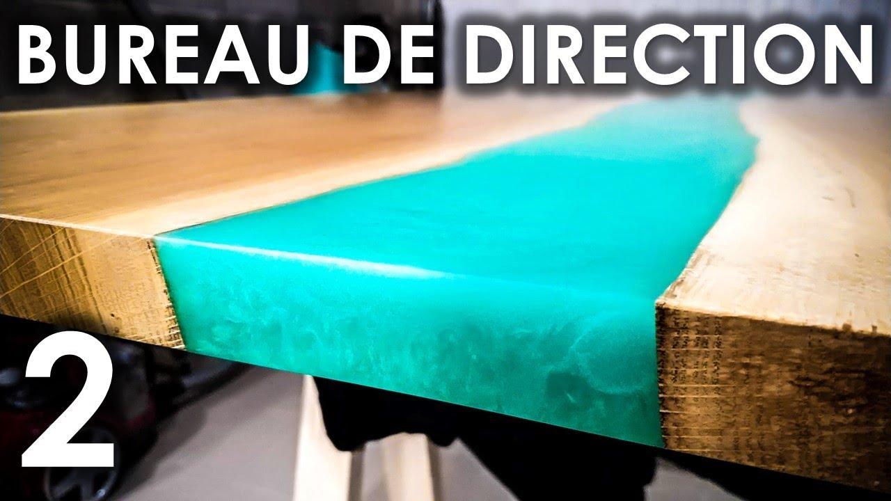 Bureau De Direction River Table Resine Epoxy Partie 2 Youtube