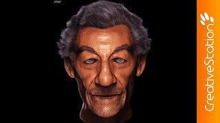 Old Man Portrait - 3D Speed art (#ZBrush) | CreativeStation
