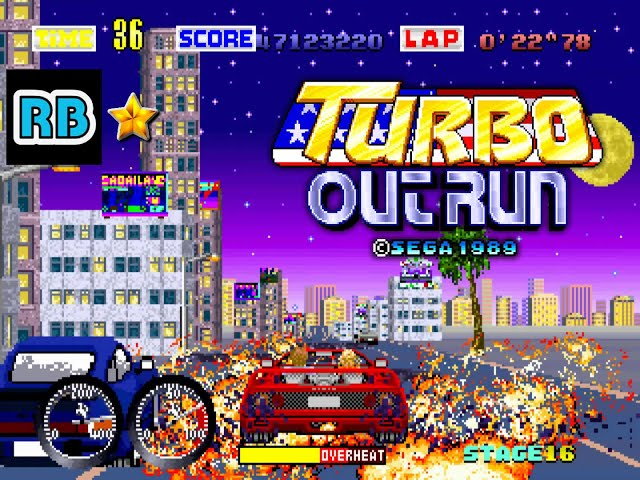 1989 [60fps] Turbo Out Run 8'32''79 ALL