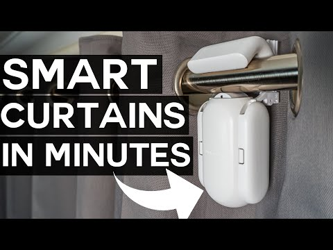 Make Your Curtains SMART in MINUTES! - SwitchBot Curtain Review