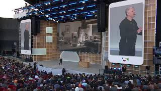 Google Nest Hub Max presentation at the Google IO