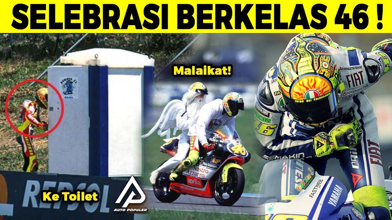 Hanya Valentino Rossi yang Segokil ini! Selebrasi Kemenangan Paling Unik dan Kece di Ajang Motogp