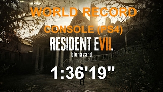 "Resident Evil 7 Any% Console Speedrun NG+ Easy 1:36'19"" (World Record)"