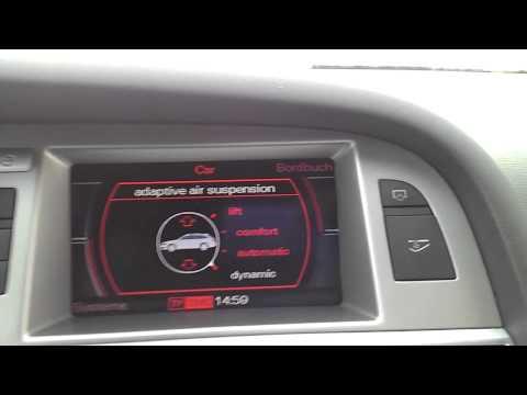 Audi A6 4f  Airride Menü ( Adaptive Air Suspension ) Pressure Reservoir Menü HD-Video