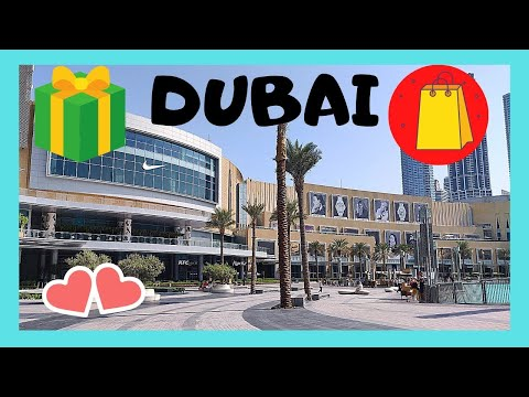 DUBAI, world's LARGEST SHOPPING MALL (with waterfalls too!), THE DUBAI MALL
