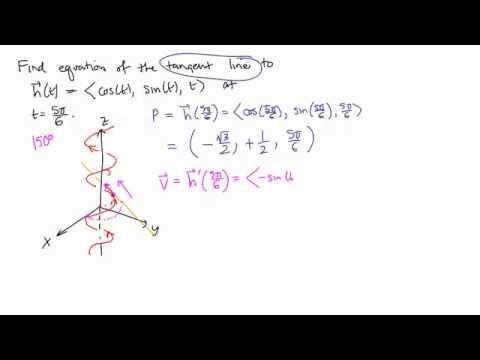 Calculus 3, Topic 7: Vector-valued calculus