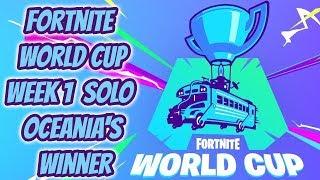 *FORTNITE WORLD CUP* WEEK 1 SOLO OCEANIA'S WINNER (Slaya) - Fortnite Battle Royale