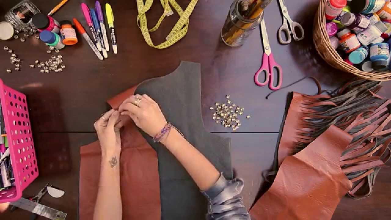 Aprenda a fazer colete de franjas sem costurar - YouTube 9110995c921