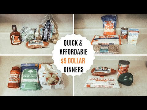 $5 DINNERS: QUICK & AFFORDABLE MEALS: BUDGET FRIENDLY: 5 INGREDIENTS OR LESS