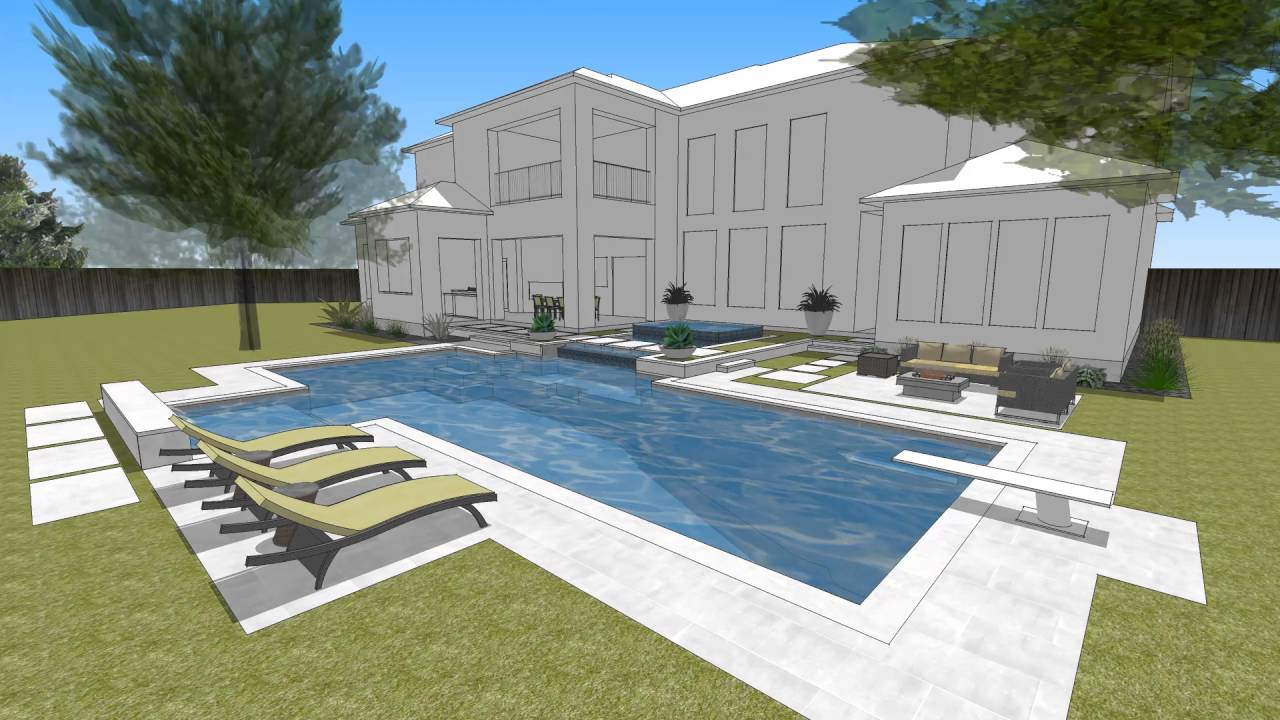 Westgrove Modern Pool Design by Randy Angell Designs - YouTube