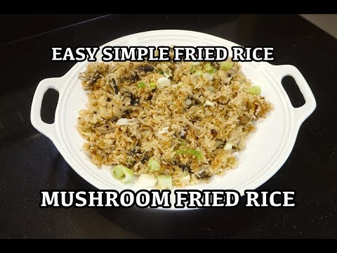 Easy Mushroom Fried Rice - Mushroom Fried Rice - Vegan Fried Rice - Veggie Chinese Fried Rice