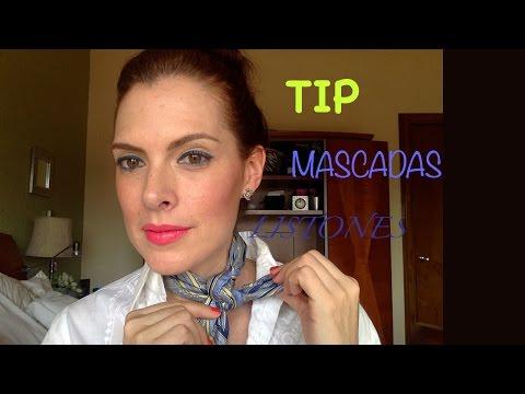 Como usar una pa�oleta /cuello corto/ancho/petit