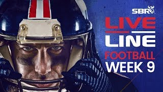 NFL Week 9 Early Games Preview + Live Odds | Live Line