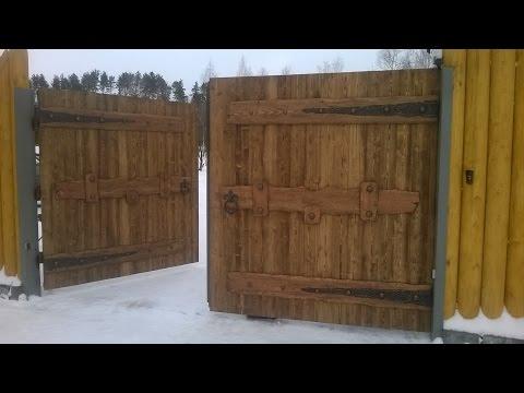 DIY wooden gate ideas/супер!!! деревянные ворота под старину