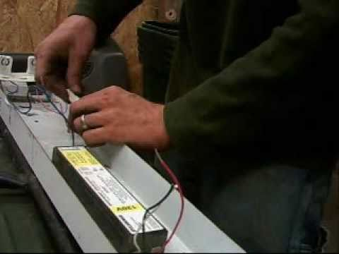 How to install flourescent light ballast - YouTube