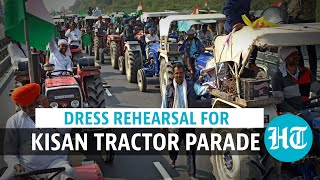 R-day: Protesting farmers' dress rehearsal for parallel parade in Delhi | Watch