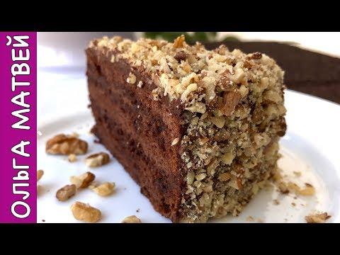 Шоколадный торт в мультиварке с орехами