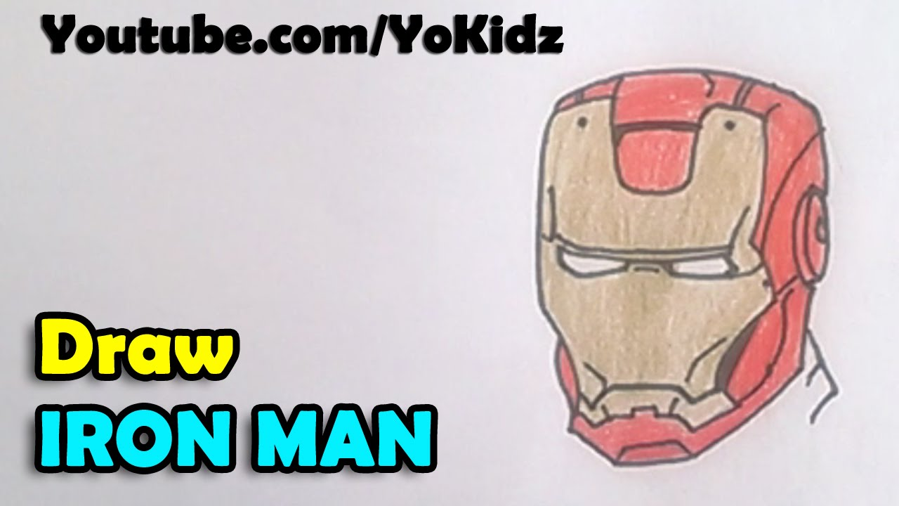 How To Draw Iron Man Face And Mask Youtube