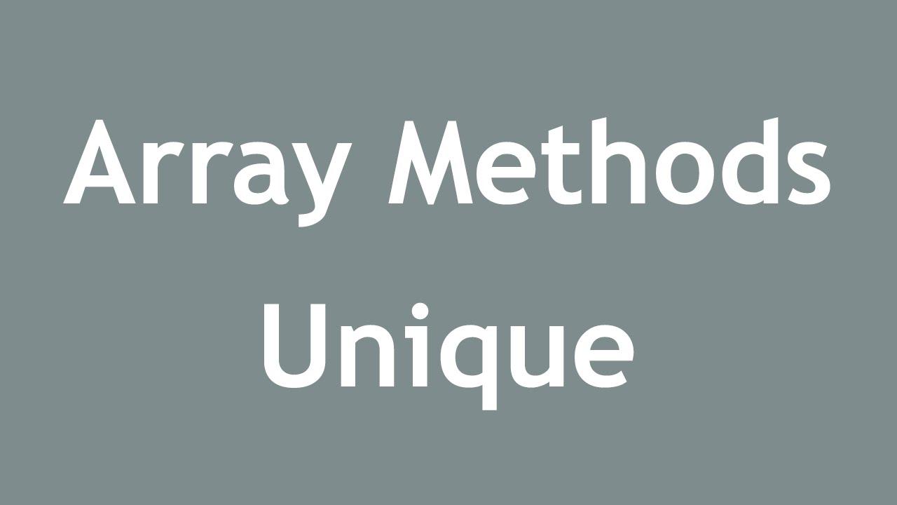 array unique