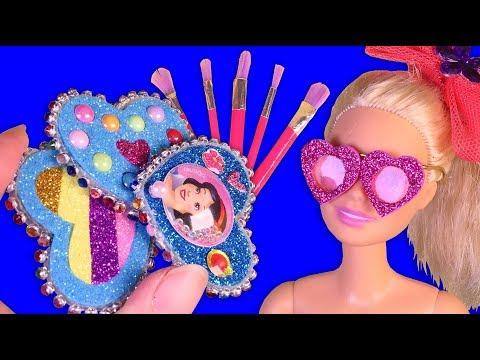 12 DIY Miniature Barbie Hacks & Crafts Makeup Brush, Sunglass, Lip gloss, Hair clips and more