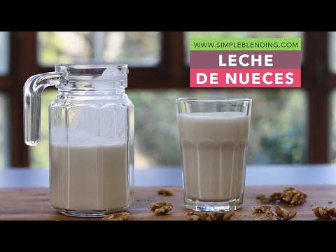 Cómo hacer leche de nuez | Bebida vegetal de nueces | Muy fácil