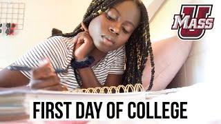 FIRST DAY OF CLASSES GRWM + VLOG | Freshman Year
