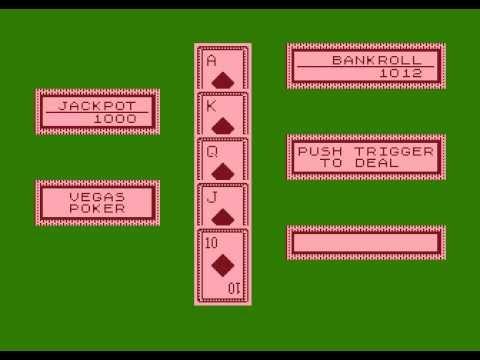 Atari 8-bit Vegas Poker (Atari) - Jackpot Trick