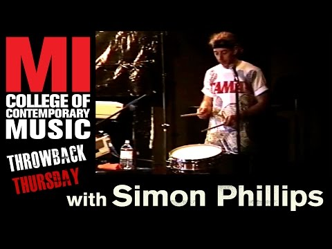Simon Phillips Throwback Thursday From the MI Vault 1991