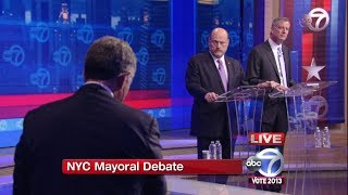 New York City Mayoral Debate (Pt 1) - Bill de Blasio vs Joe Lhota Debate 2013