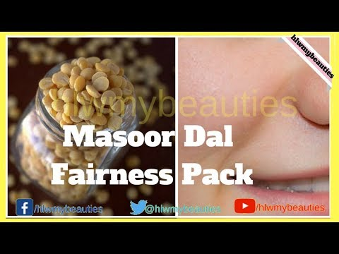 Masoor dal face pack for fairness