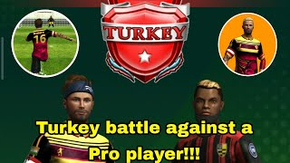 Football strike TURKEY BATTLE against a pro player footballstrike