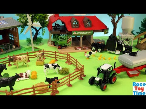 Cattle Transport Truck comes to the Farm - Fun Farm Animals Toys For Kids |