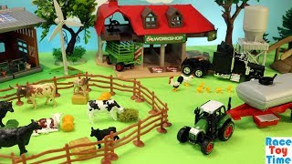 Cattle Transport Truck comes to the Farm - Fun Farm Animals Toys For Kids