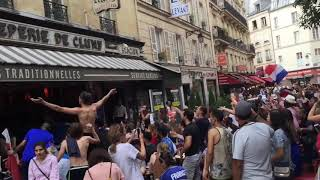 Street-view of France World Cup Celebration in Paris thumbnail