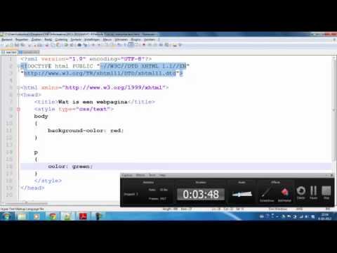 Les 5 - HTML En CSS - 3 Manieren Waarop Je Met CSS Kan Werken