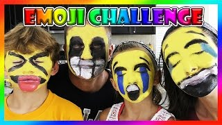 EMOJI FACE PAINT CHALLENGE | We Are The Davises