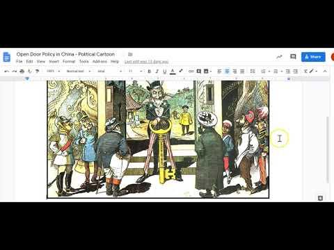 Open Door Policy Political Cartoon Analysis