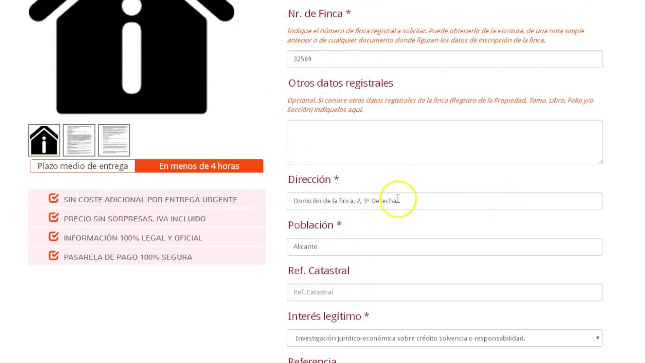 C mo solicitar nota simple del registro de la propiedad por datos registrales youtube - Solicitar nota simple registro propiedad gratis ...