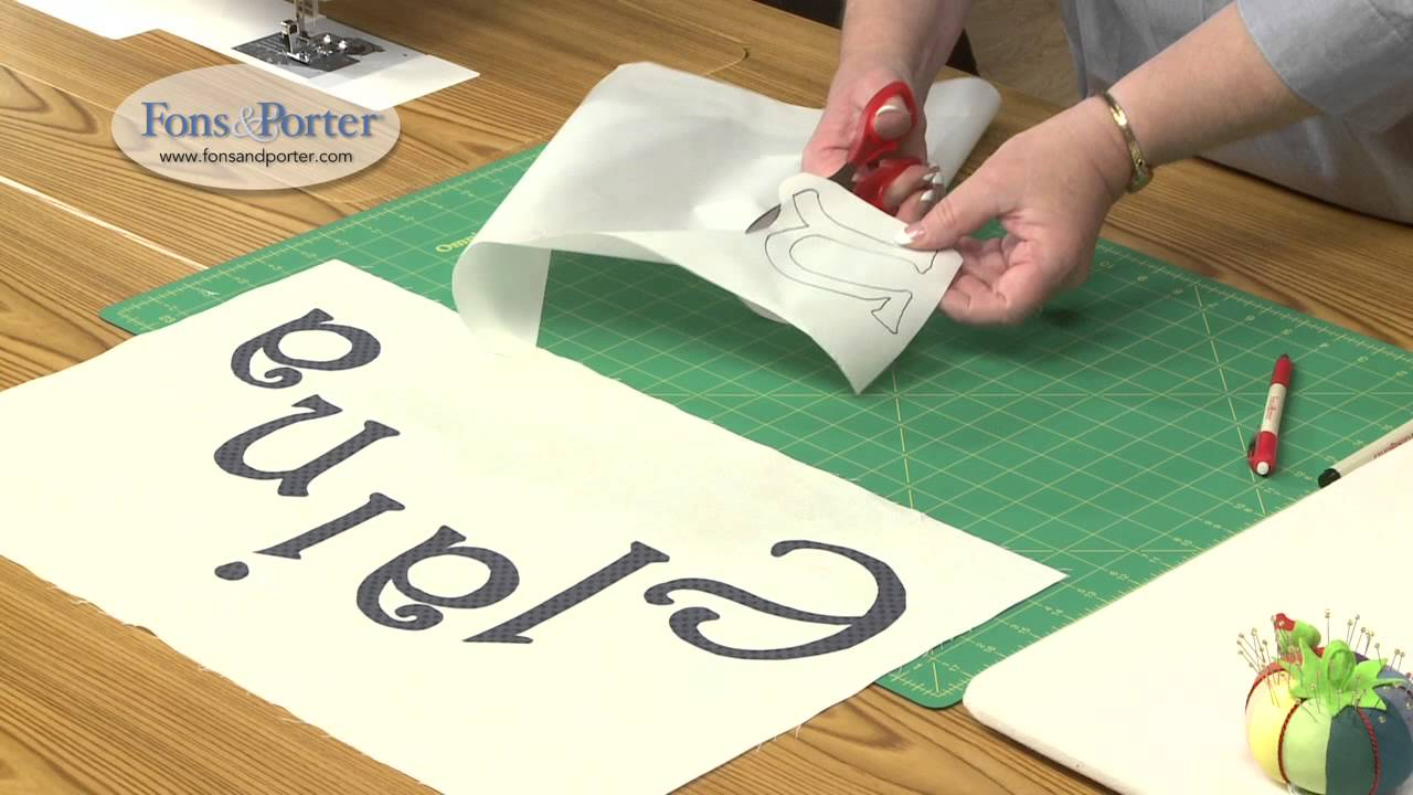 Sew Easy Lesson How To Make Fusible Applique Lettering