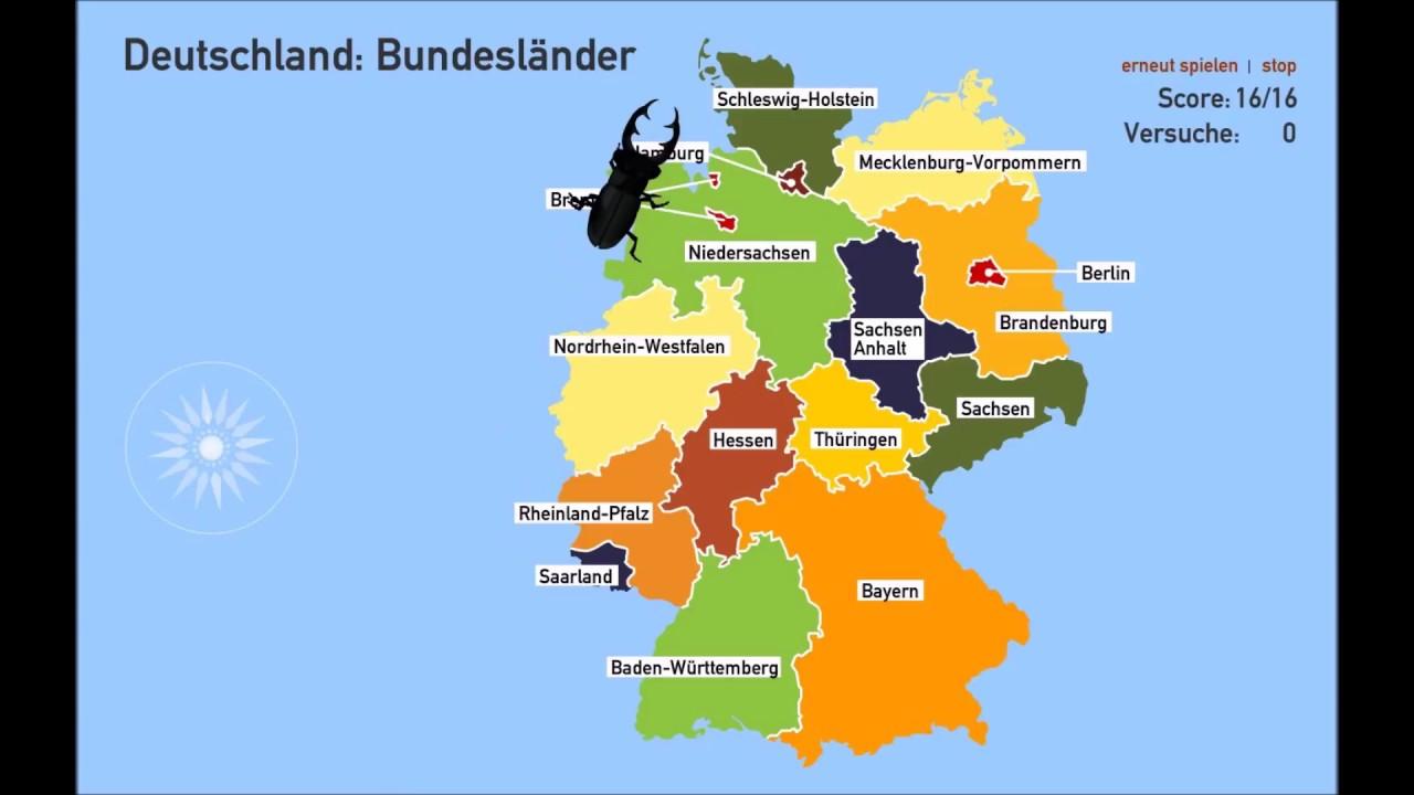 Wissen Welche Bundeslander Hat Deutschland Geographie Quiz