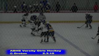 Acton Boxborough Girls Ice Hockey at Groton 2/3/15