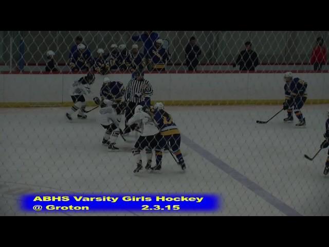 Acton Boxborough Girls Ice Hockey at Groton 2/3/15