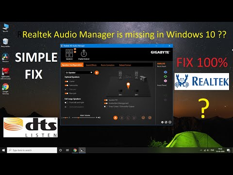#realtek Fix Realtek HD Audio Manager Missing From Windows 10 || Simple Fix !!