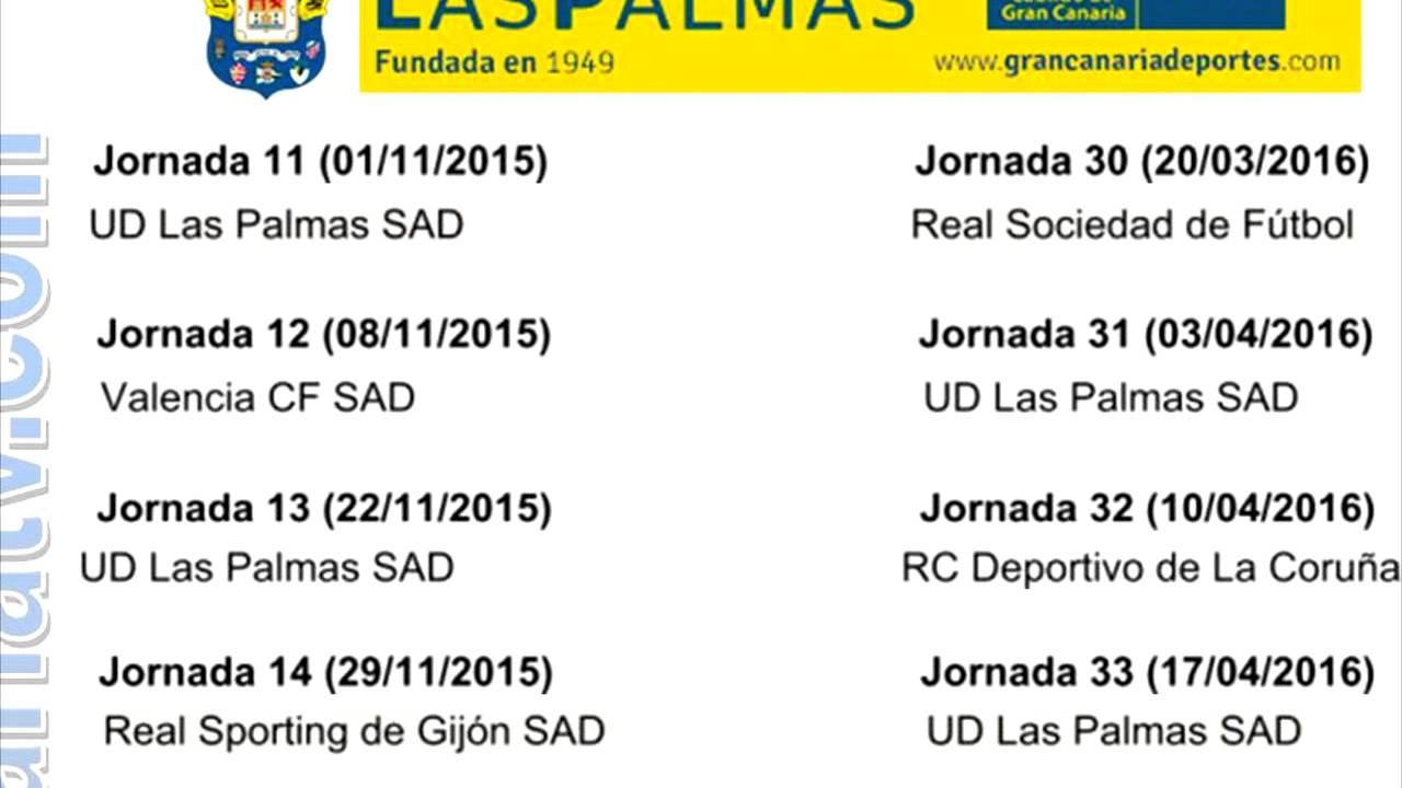 Palmas Calendario.Calendario Ud Las Palmas